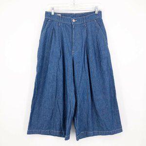 LEVI'S Premium Raw Denim Culotte Jeans High Rise
